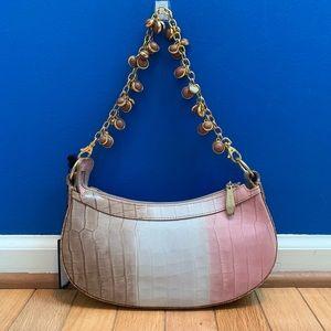 Berge Ombré Leather Shoulder Bag NWT Gem Chain
